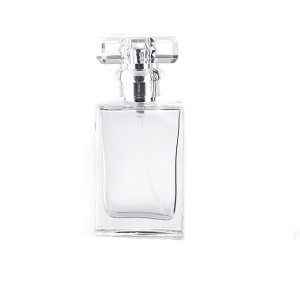 factory customized Mason Jam Jar With Metal Lid - 20ml 30ml 50ml Luxury White Black Square Glass Perfume Bottle – LOM