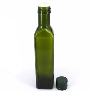 Glass Oil Cruet Bottle na eyi mkpuchi