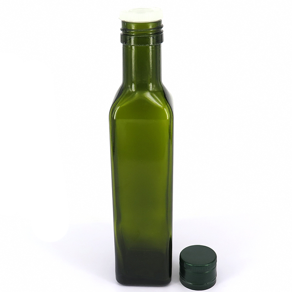 Factory Cheap Hot Frosted Beverage Bottle - Glass Oil Cruet Bottle With PP Lid – LOM