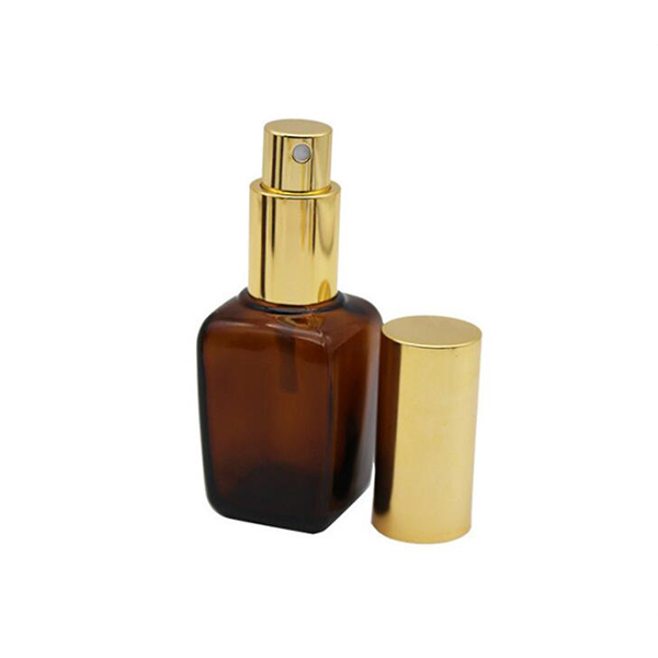 Best quality Makeup Cosmetics Jars - Amber Glass Boston Round Dropper Bottle – LOM