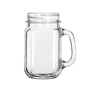 Hot Selling Glass Mason Jars With Handle straw and lids.