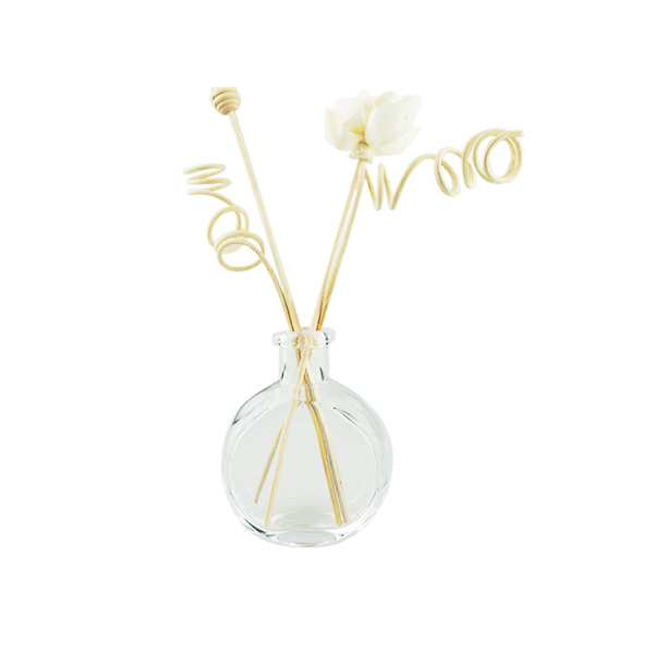 100ml Round Shape Engraving Diffuser Water Glass Bottle With Sticks. Featured Image