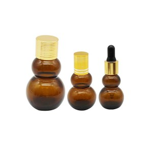 Manufacturer of White Glass Cosmetic Bottle - Gourd Piette for Essential Oil Bottles – LOM
