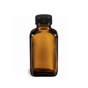 100ml Rectangle Brown Glass Bottle For Serup/Liquid Medicine Glass