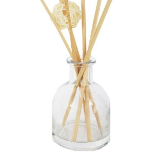 200ml Round Black Reed Diffuser With Scented Oil, Cutesy Candle Set.