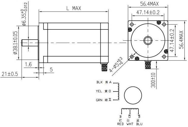 Hybrid Stepper Motor-nema23 Hm