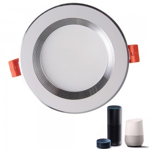 12W RGBW smart recessed downlight 12 w round downlight chrome downlights for office lighting