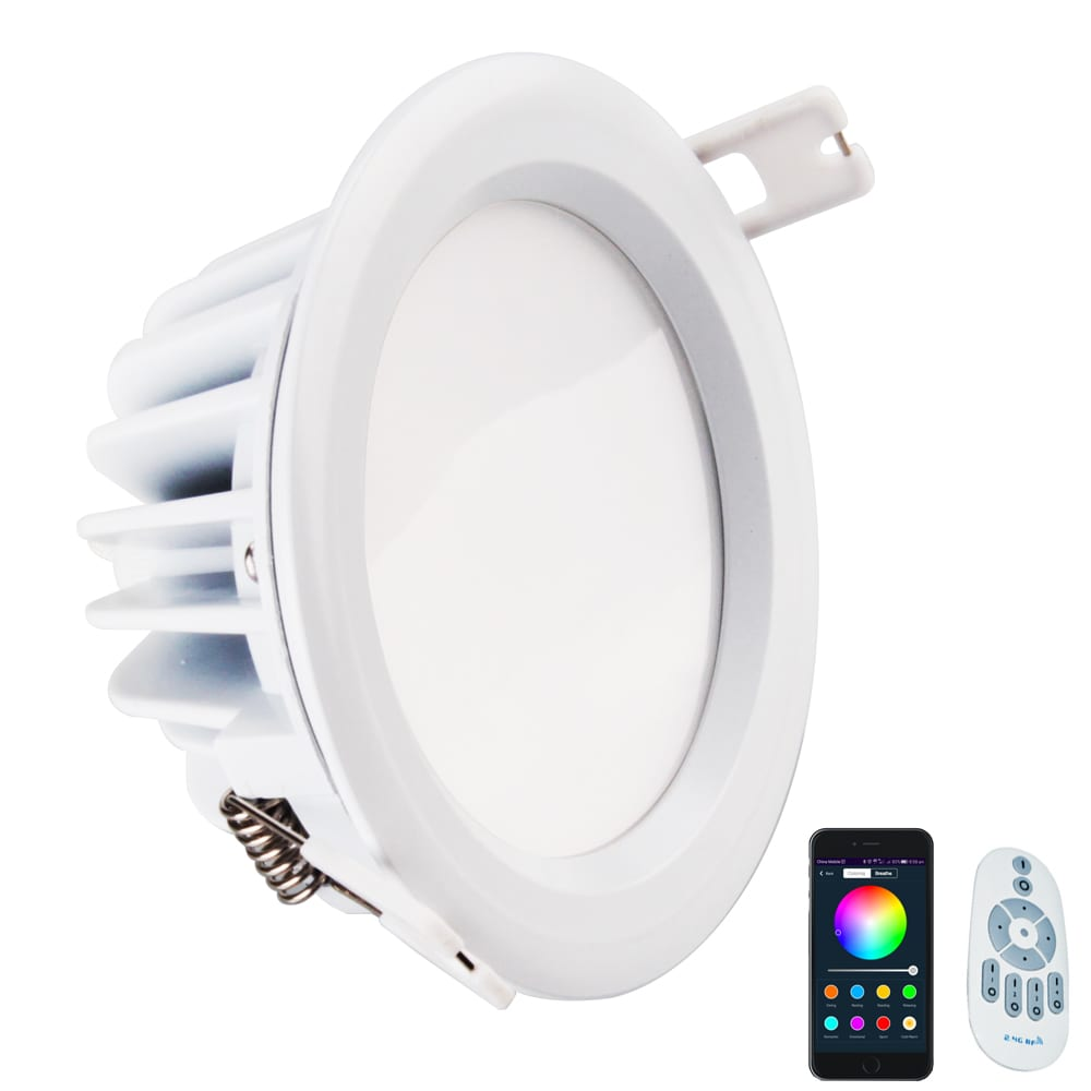 Reasonable price for Led Light Panels - 14W RGBW smart downlight fittings Bluetooth Wifi Alexa 14watt Smart Led Mesh Light – Lowcled