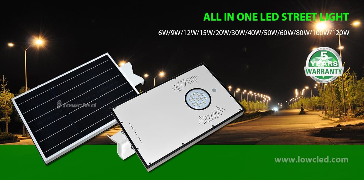 15w solar street lighting