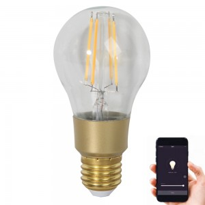 7W E27/E26/B22 WIFI Smart LED Filament Bulb