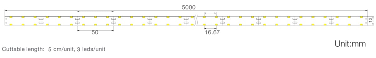 SMD3014 series, 120LEDs, LED strips, side-view DOUBLE ROWS size