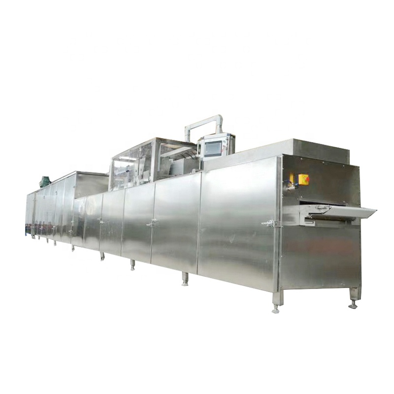 Chocolate production line automatic chocolate wafer enrobing making machine