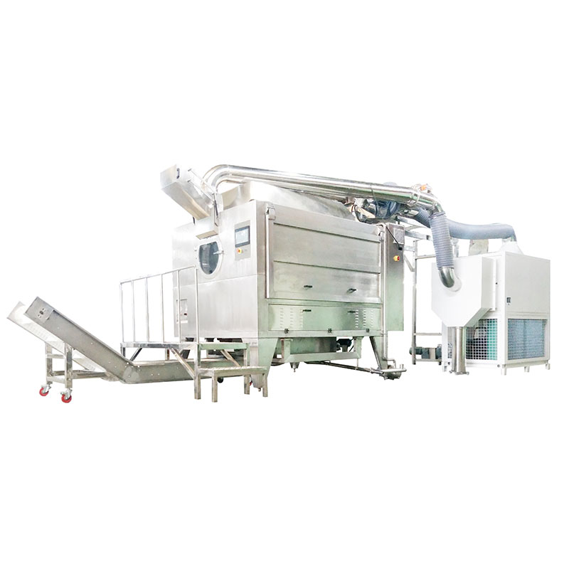 Automatic cleaning system Chocolate beans coating production line sugar chocolate coating machine