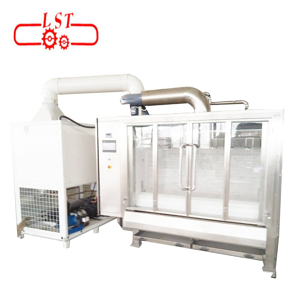 Automatic almond polishing machine for food processing