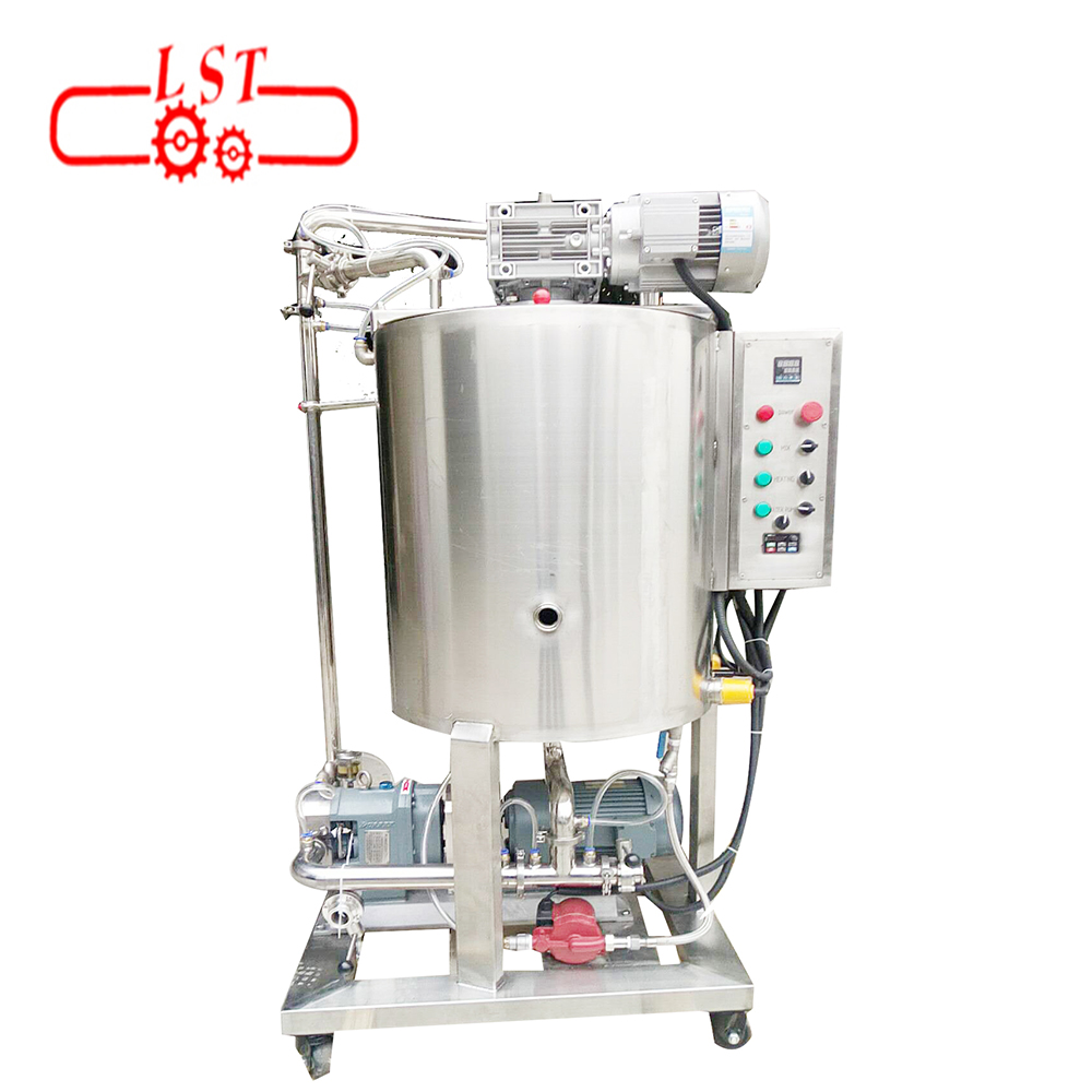 Movable auto chocolate paste mixing machine with pump