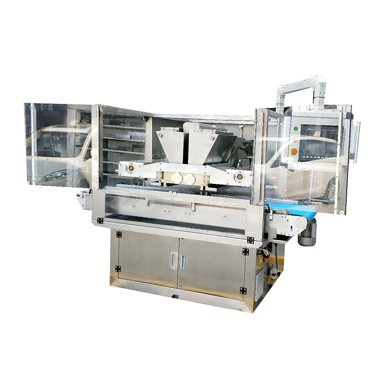 Factory chocolate production line depositing machine