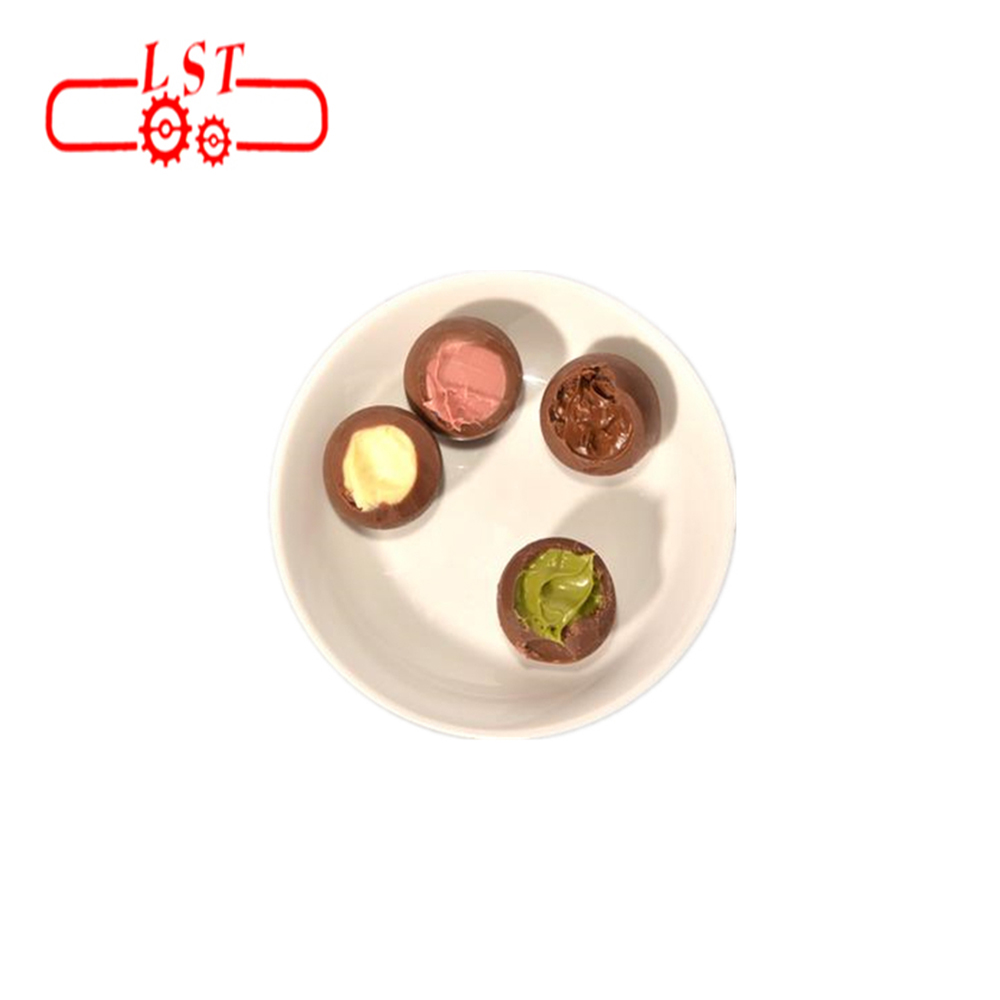 2D one shot double colors chocolate ball making machine