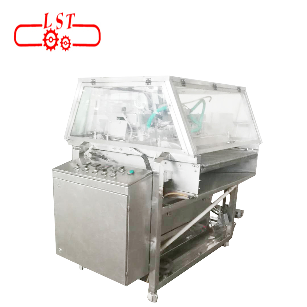 Servo control 400mm- 1200mm wire mesh and belt type chocolate decorating machine with cooling tunnel