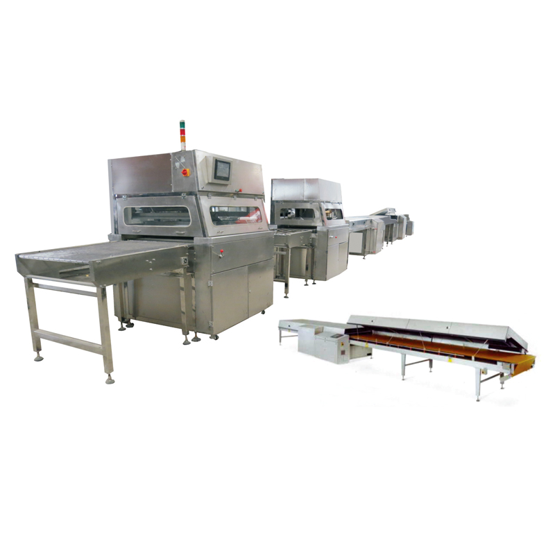 Factory Price Chocolate Enrober For Sale Food Processing Machinery Automatic Packing Machine Peanut Coating Machine
