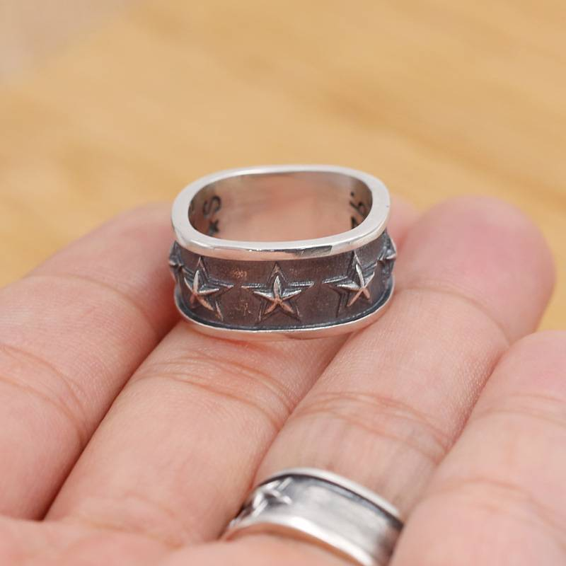 Wholesale S925 Sterling Silver Popular Cody Rings Star Retro Personality Quartet Men Women Ring Featured Image