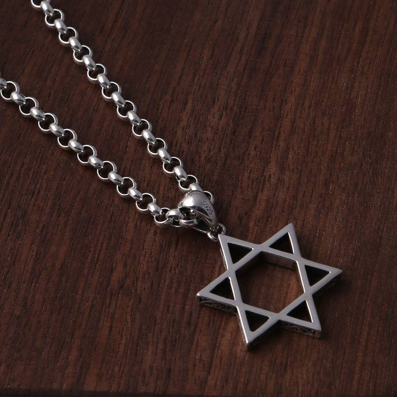 Factory Wholesale S925 Silver Trendy Hexagram Star Necklace Pendants Fashion Men Women Popular Korean Pendant Charm Featured Image