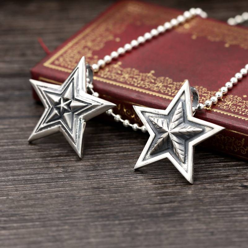 New Arrival 925 Sterling Silver Retro Thai Silver Pendants For Necklace Men Women Fashion Trend Punk Star Popular Pendant Featured Image