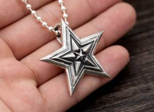 New Arrival 925 Sterling Silver Retro Thai Silver Pendants For Necklace Men Women Fashion Trend Punk Star Popular Pendant