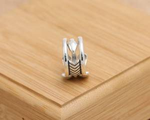 Factory Wholesale Price S925 Sterling Silver Rings Personality Cody Creative Unique Three Bow Men Open Ring