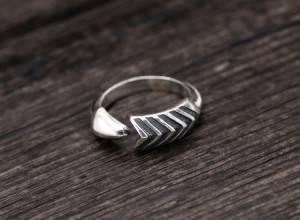 925 Pure Silver Handmade Thai Silver Ring Simple Men Women Creative Arrow Opening Rings