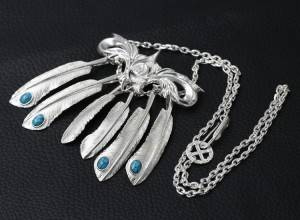 925 Pure Silver Korean New Fashion Trendy  Pendant For Necklace Feather Eagle Pendants Sweater Chain Versatile Design