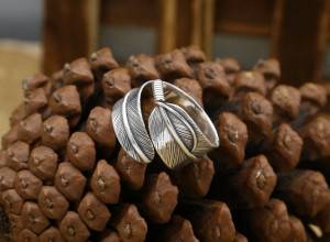 Factory Wholesale S925 Pure Silver Rings Retro Thai Silver Popular Feather Men Women Simple Open Flexible Ring