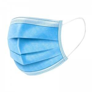 3/ply Disposable Protective Face Mask Nonwoven  Mouth Mask  Elastic Earloop Salon Mouth Face Masks