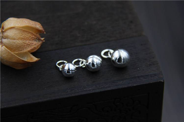 S925 sterling silver accessories jewelry DIY bead bells pendant 5mm6mm7mm bracelet pendant charms