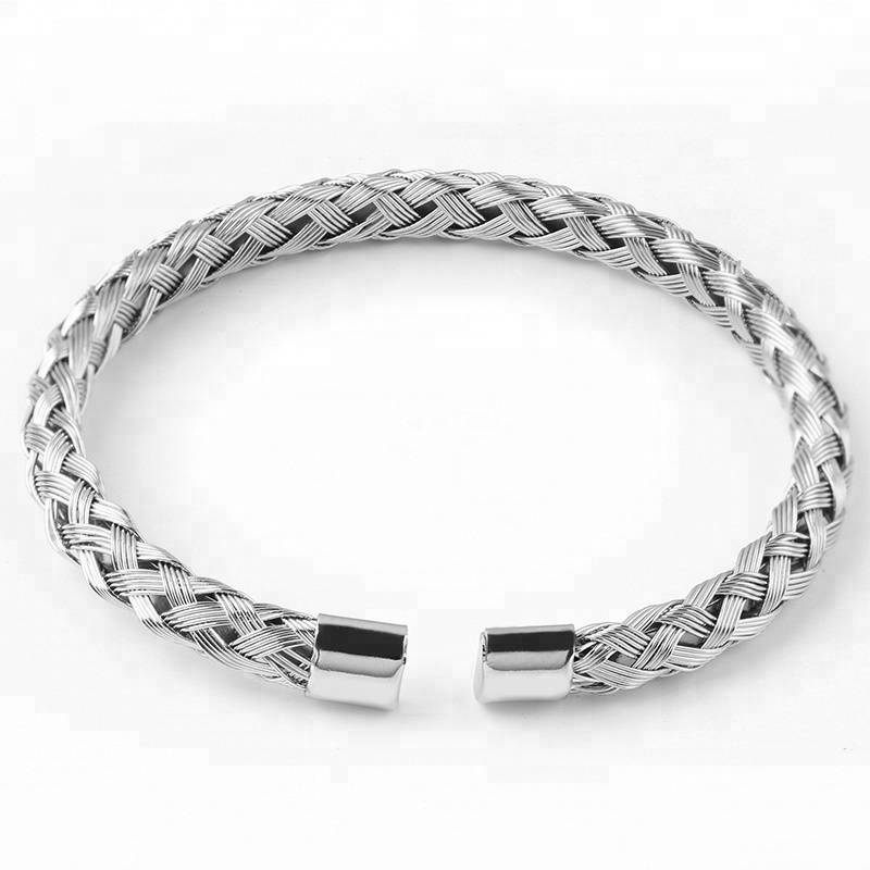 New Arrival Fashion Cuff Bangles Jewelry Women's Stainless Steel Weave Simple Style Bracelets For Women's Jewelry