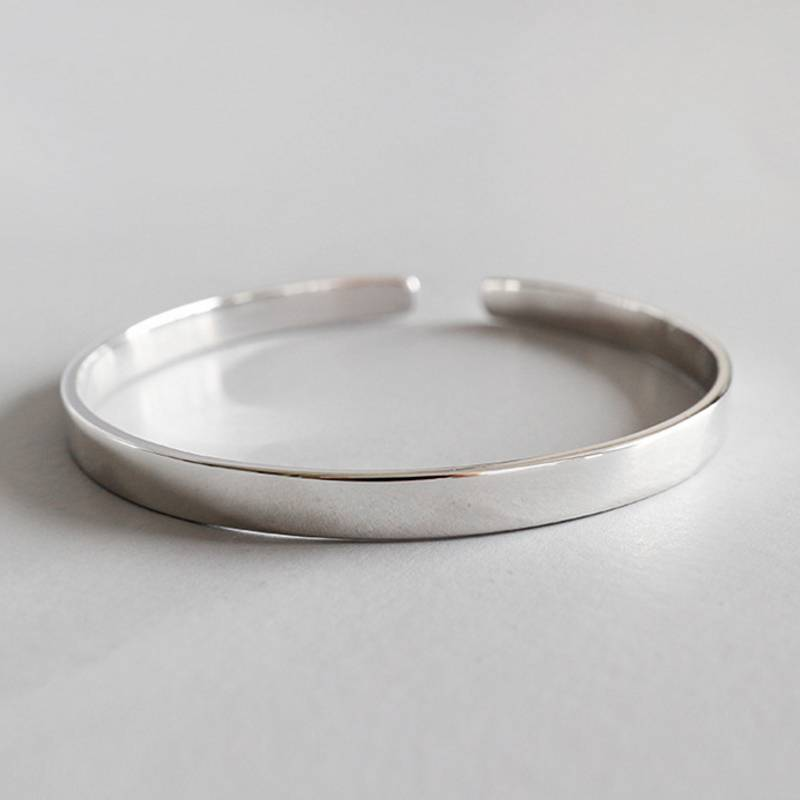 Factory Price 100% 925 Sterling Silver Fashion Minimalism Open Bracelets Bangle Fine Jewelry for Female