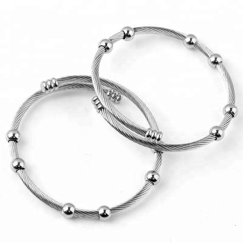 20mm Fashion Adjustable Bangle Star Blank Men & Women DIY Blank Charm Bangles & Bracelets for Jewelry Making