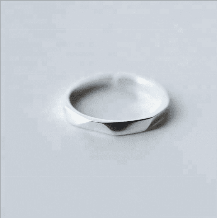 Fahion Simple 925 Sterling Silver Open Ring For Women