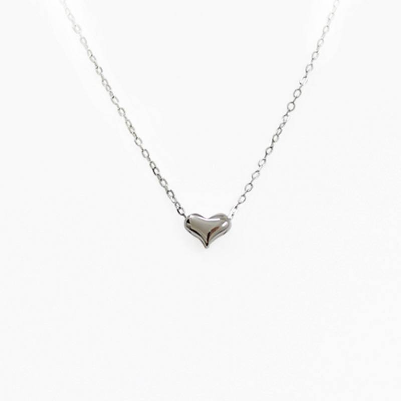 100% S925 New Tiny Heart Necklace For Women Heart Shape Pendant Necklace Gift Ethnic Bohemian Choker