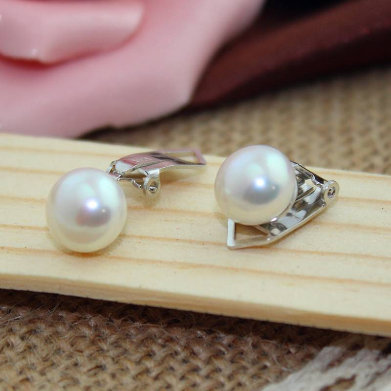Fashion Natural Freshwater Pearl 925 Sterling Silver No Pierced Ear Clip Without Puncture Earring For Women Jewelry Wholesale