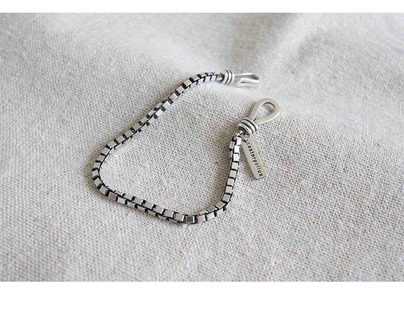 925 sterling silver retro thick box chain couple student bracelet jewelry