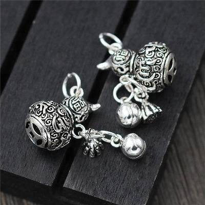 925 silver jewelry findings Gourd Bell Charms DIY Bead for Bracelet Jewelry Anklet Findings Accessories wholesale Featured Image