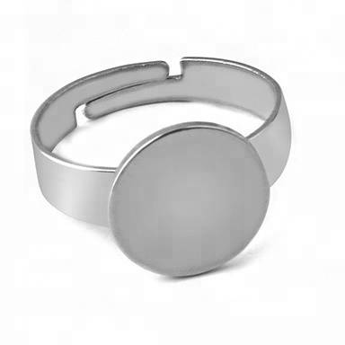 Wholesale Adjustable Stainless Steel Ring Base Blanks Jewelry Making