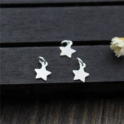 2018 New Genuine 100% 925 Sterling Silver Moon Star Charms Fit Original Charms Bracelet Jewelry Making