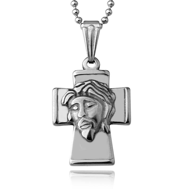 New Stainless Steel Necklace Retro Vintage Pendant 18*23mm Cross Men's Pendant Accessories Wholesale