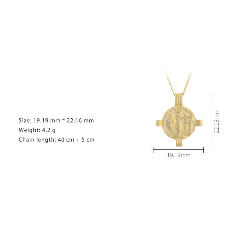 Korea Hot Style Pure 925 Sterling Silver  for Women Delicate Fashion Gold Pendant Necklace Jewelry