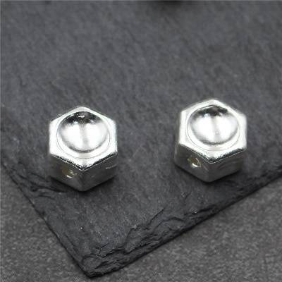 925 Sterling Silver DIY Bracelet Necklace Spacer Bead Geometry Hexagon Star Beads For Jewelry Making