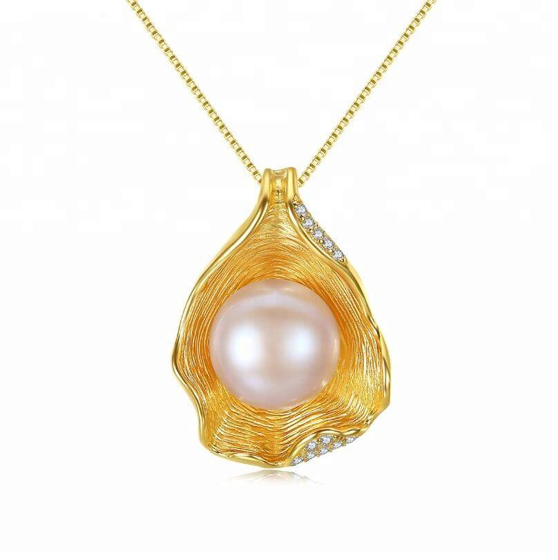 100% 925 Silver Jewelry Pearl for Woman Pendant Jewelry Irregular Shell Necklace Wedding Gift