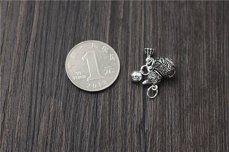 925 silver jewelry findings Gourd Bell Charms DIY Bead for Bracelet Jewelry Anklet Findings Accessories wholesale
