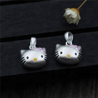 925 Sterling Silver Charm DIY Bracelet Pendant Necklace Epoxy Cat Pendant Charm Accessories For Jewelry Making