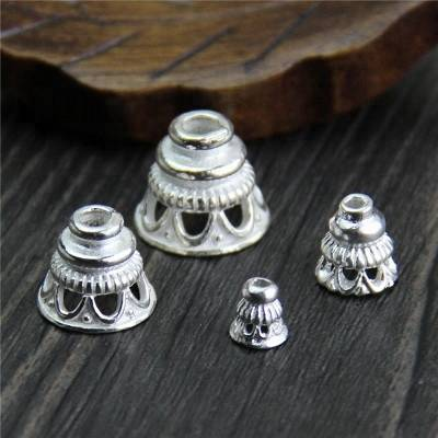 925 Sterling Silver Beads DIY Bracelet Pendant Tower Beads Pagoda For Jewelry Making